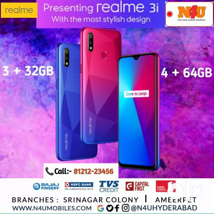 Realme 3i Now Available @N4U Mobiles 0