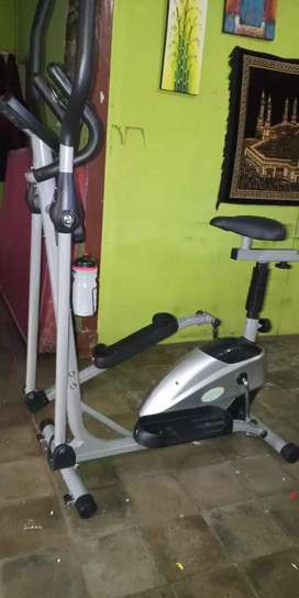 New sepeda fitnes jogging magnetik grand Eliptical bike 2 fungsi