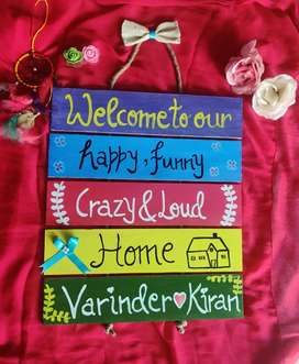 Decorative gift item Gift Customised Wooden Pallet Wall Hanging