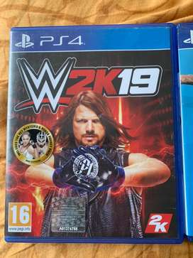 Ps4 wwe 2k19 and fifa 19