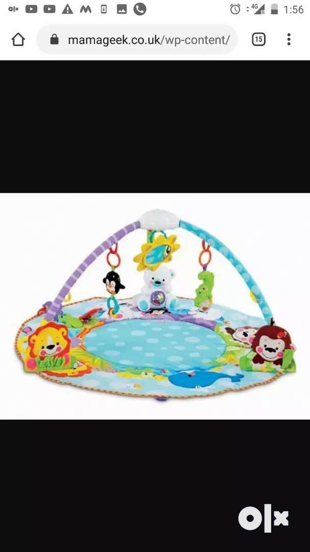 Fisher price play gym mat for 3 months to one yr 0