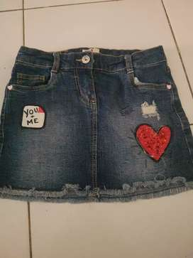 Rok jeans anak uk 5-6th