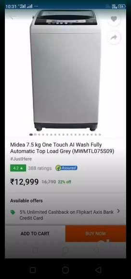 Washing machine - top loading ,fully automatic