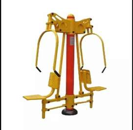 Alat fitnes outdoor chest press two seats