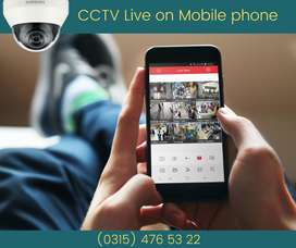 CCTV live on mobile, laptop and TV - CCTV Cameras in Islamabad