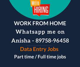 Earn daily Rs.1000/- to Rs.1350/-. Work from home data entry jobs.