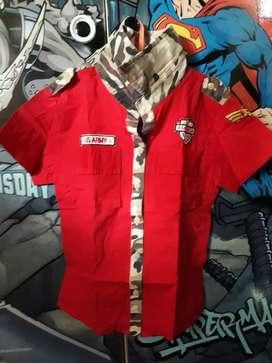 Baju anak warna merah ARMY