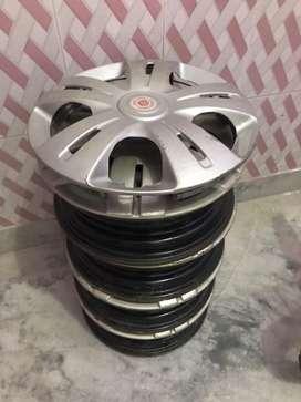 12 inch steel rim with wheel cap for alto