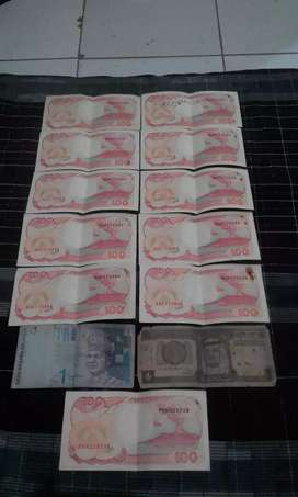 Uang kertas pecahan 100 rupiah th 1992