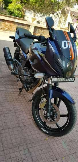 Bajaj pulsar 220 blue colour