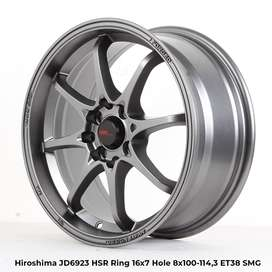 velg raing hsr HIROSHIMA JD6923 HSR R16X7 H8X100-114,3 ET38 SMG