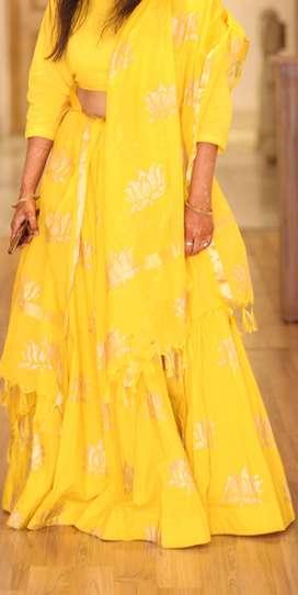 Pretty yellow lehenga set
