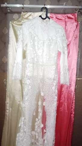 Handmade Kebaya Pengantin Mutiara Gaun Akad Nikah