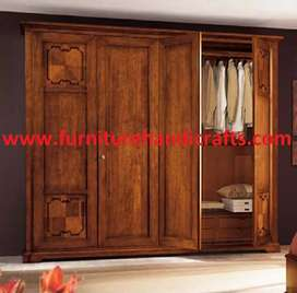Brand new solid wooden four door wardrobe