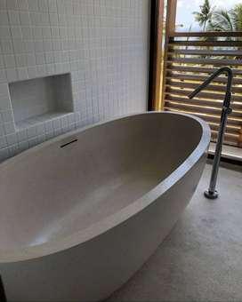 Bathtub Klasik Uniq Nuansa Bali Terazzo