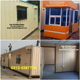 Fiber & prefab guard room porta cabin office container toilet/washroom