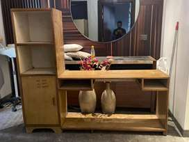 Snall study table with book shelf