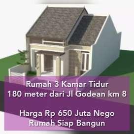 Rumah Murah 3 Kamar Tidur, dekat Jalan Godean