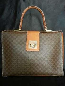Tas import eks CELINE paris made in Italy ad no seri office handbag