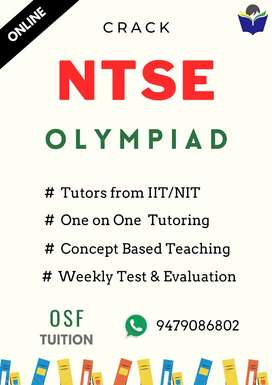 Online Tuitions for NTSE , KVPY and  Olympiad