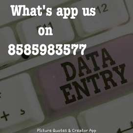 part time data entry work for students and housewife