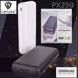 Lenyes Riel High Capasity Power Bank Powerbank 20000mAh 2.1A Original