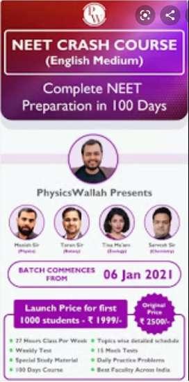 Physics wallah neet crash course
