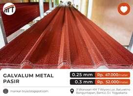 Spandek/Galvalum Metal Pasir 0,3 mm Kualitas Premium