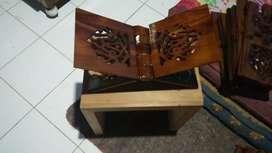 Rekal iqro' mengaji berbagai ukuran materil kayu jati dan mahoni