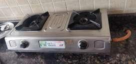 Surya Gas stove with pipe and regulator