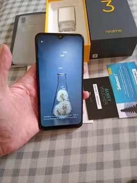 Realme  3 Ram 3 Internal 32Gb Black Blue Mulus garansi