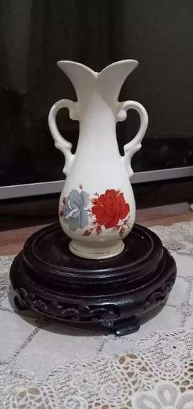 Guci vase cina bunga ross antik