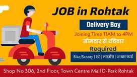 Delivery Exicitive JOB (सिर्फ़ रोहतक के लिऐ)