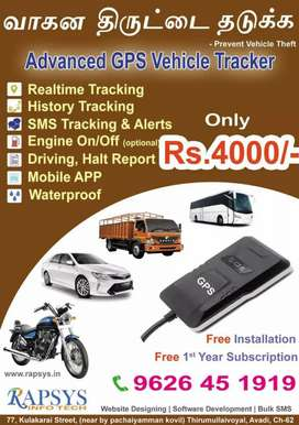 GPS tracker for bike,car,bus,truck,auto or any vehicle