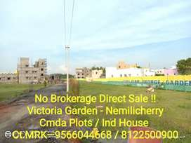No Brokerage Avadi-Nemilicherry Plots
