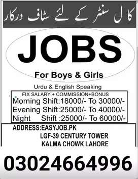 English call center job in Lahore