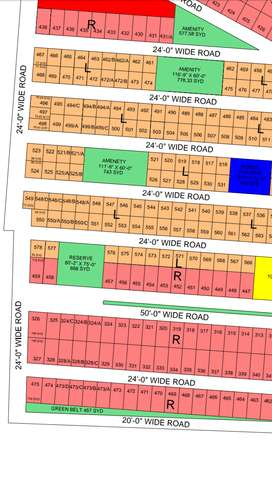 Malir town Residency phase I. Old block plot for sale