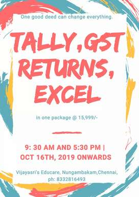 GST TALLY AND ADVANCED EXCEL