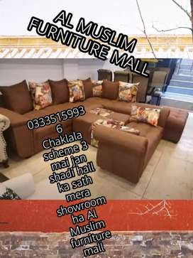 Grand offer Al Muslim Furniture Mall L shape sofa set only 26999 fixed