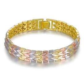 Gradient Three Color Gold Plated Bracelet Band