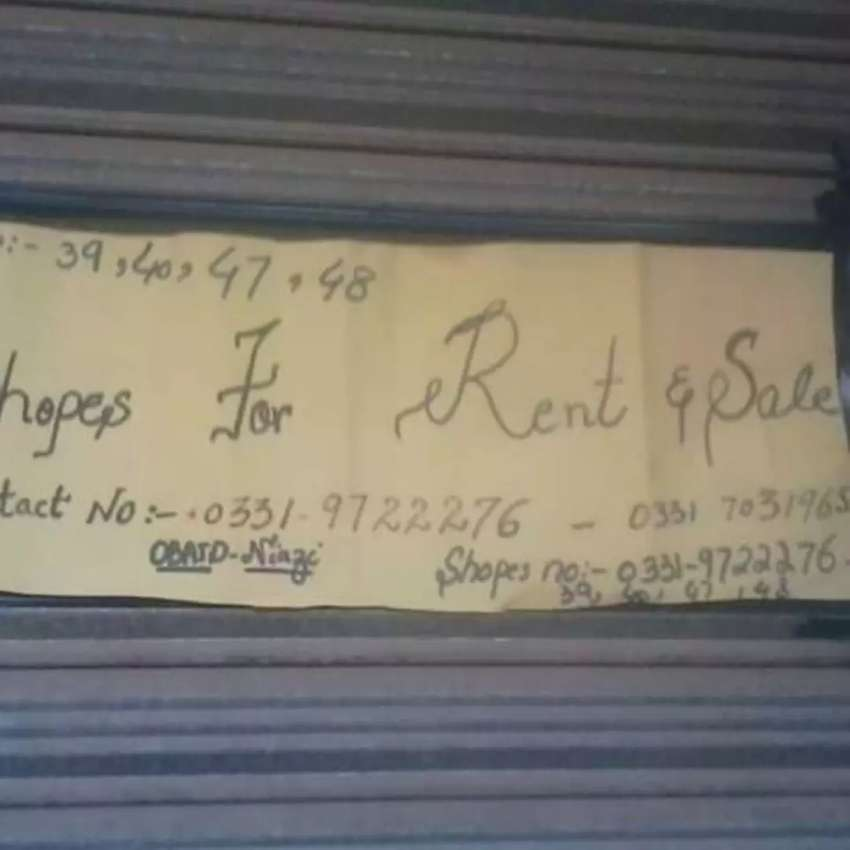 4 combined shops for sale . 0