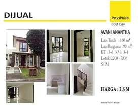 Dijual rumah di Avani Anantha BSD