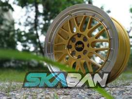 Ready stock HSR Lemans R16x7 H4x100/114 Gold lip Face