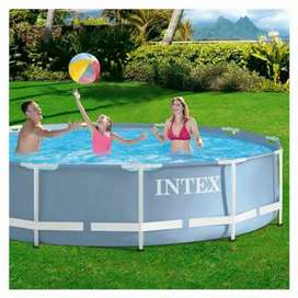 Intex 26/28710 (size:12ft/30inc) prism metal frame swimming pool set.