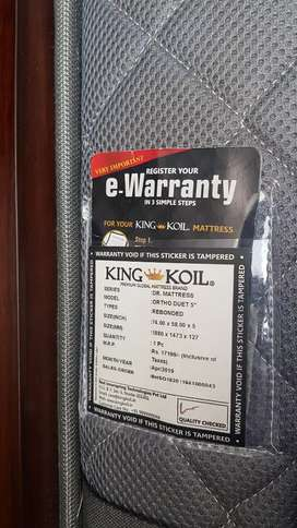 Queen size box bed with king koil mattress