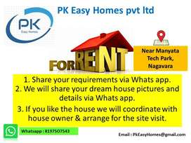 Houses for rent all over Bangalore