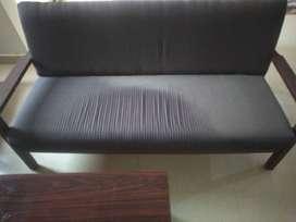 One 3-seater pure sheesham wood sofa