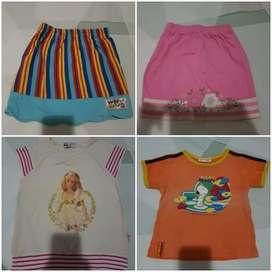 Jual borongan 8 baju anak preloved