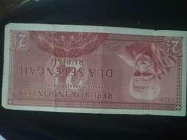 Uang lama  RP2,1/5 (Dua setengah Rupiah) tahun 1956