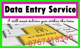 Home based part time job in data editing and formating work from home